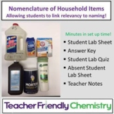 Chemistry Activity: Nomenclature and Household Items