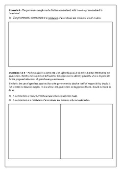 Nominalisation engagement worksheet