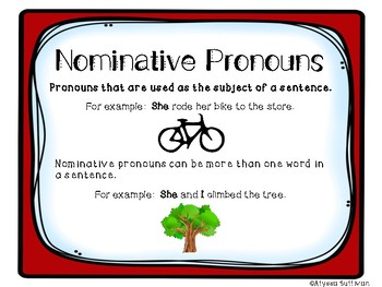 Identifying Pronouns: Nominative, Objective, and Possessive