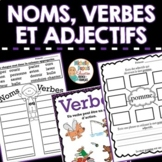 Noms verbes et adjectifs qualificatifs - French verbs - nouns - adjectives