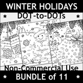 Non-Commercial Bundle of Winter Holidays Connect the Dots