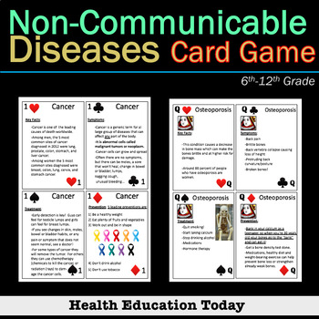 Health Lesson: Non-Communicable Diseases Card Game - Play