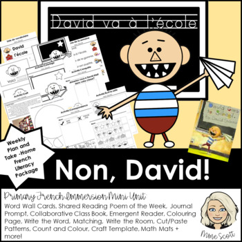 Non David - French Activities & Craft for David va a l'ecole and Petits malheurs