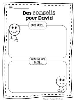 Non David French Reading Response Activities by Kickstart Classroom