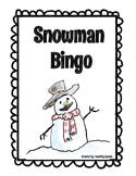 Snowday Snowman Bingo Game