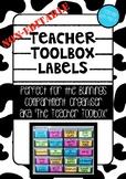 Non-Editable Bunnings Teacher Toolbox Labels