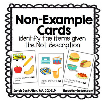 Non-Example Task Cards
