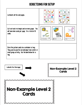 Non-Example Task Cards LEVEL 2