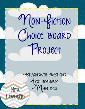 Non-Ficition Book Choice Board Project
