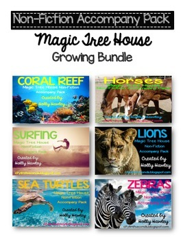 Non Fiction Accompany Pack Magic Tree House GROWING BUNDLE