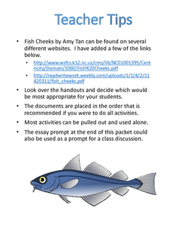 "Non Fiction Activities for ""Fish Cheeks"" by Amy Tan by ..."