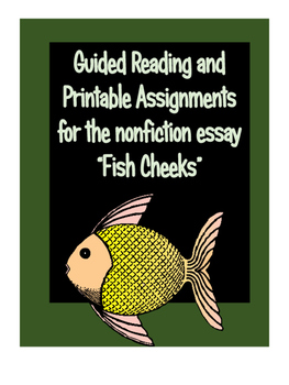 """Non Fiction Activities for """"Fish Cheeks"""" by Amy Tan"""