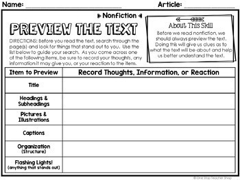 Nonfiction Reading Centers | Graphic Organizers | Google Classroom FREE