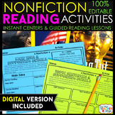 Nonfiction Reading Centers | Graphic Organizers for Reading 100% EDITABLE