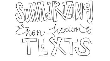 Non-Fiction Anchor Chart/Doodle Pack