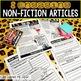 Non-Fiction Animal Articles and Comprehension Checks
