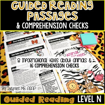 Level N Guided Reading Passages and Comprehension Questions: Animals