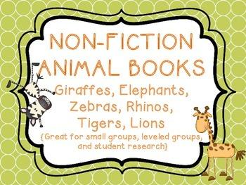 Non-Fiction Animal Books - Lions, Giraffes, Zebras, Elephants, Rhinos, Tigers