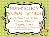 Non-Fiction Animal Books - Lions, Giraffes, Zebras, Elepha
