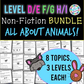 Non-Fiction Animal Passages BUNDLE! Level D-E, F-G, H-I