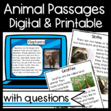 Non-Fiction Animal Passages: Main topic/Key Details/Ask an
