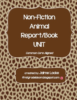 Non-Fiction Animal Writing Unit