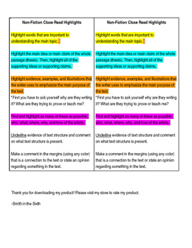 Non Fiction Annotations Bookmark (any text) (editable)