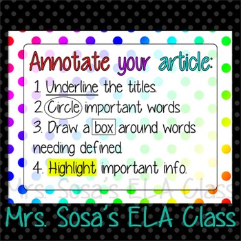Non-Fiction Article Annotation Poster