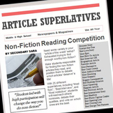 Non-Fiction Article Superlatives: Students Find, Read, Award, & Write Articles!