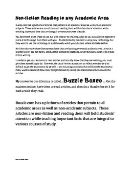 Non-Fiction Articles Resource