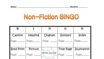 Non-Fiction BINGO