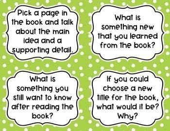 Nonfiction Book Club Discussion Cards