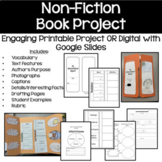 Non Fiction Book Project - Google Slides and Printable
