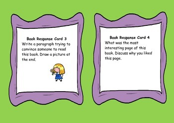 Non Fiction Book Reponse Cards