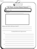 Non Fiction Book Report Form