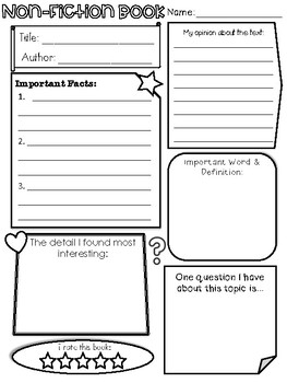 Book report graphic organizer pdf