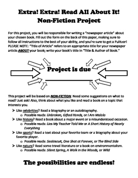 Non-Fiction Book Report Project