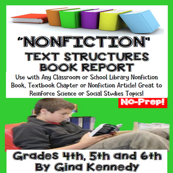 Nonfiction Book Report, Use With Any Nonfiction Book!