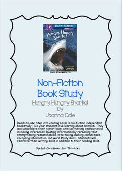 Non-Fiction Book Study - Hungry, Hungry Sharks! by Joanna Cole