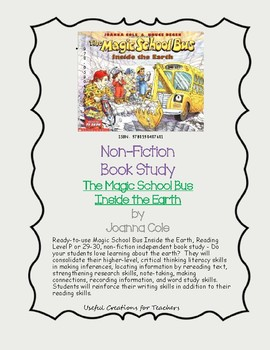 Non-Fiction Book Study - The Magic School Bus Inside the Earth by Joanna Cole
