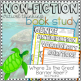 Non-Fiction Book Club Printable: Where is The Great Barrier Reef?