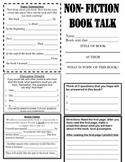 Non Fiction Book Talk using Thinking Strategies (3-5)