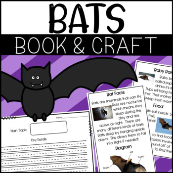Non-Fiction Book and Craft Bundle for Halloween: Spiders, Pumpkins, and Bats!