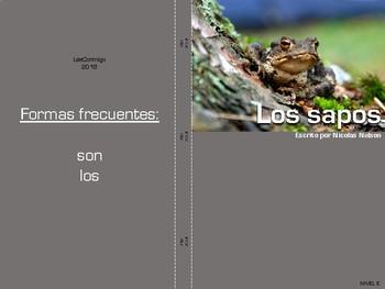 Non-Fiction Book in Spanish Level E plus compare/contrast activity - Los sapos