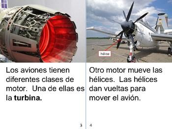 Non-Fiction Book in Spanish Level F - Los Aviones