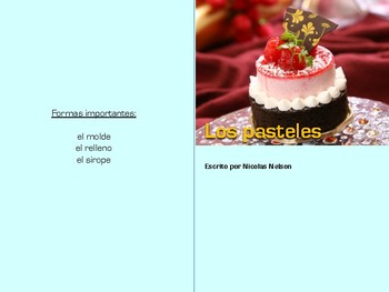 Non-Fiction Book in Spanish Level G - Los pasteles