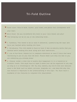 Non-Fiction Brochure Book Report