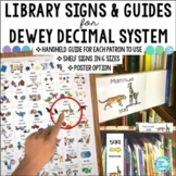 Library Skills Dewey Decimal System Call Number Guides Labels Signs
