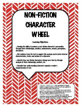 Non-Fiction Character Wheel