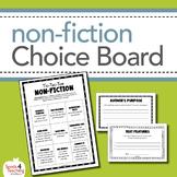 Non-Fiction Choice Board Activity